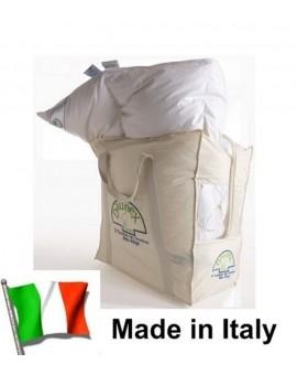 Piumino oca Bianco Invernale 4 stagioni letto SINGOLO DAUNEX Made Italy dal Trentino