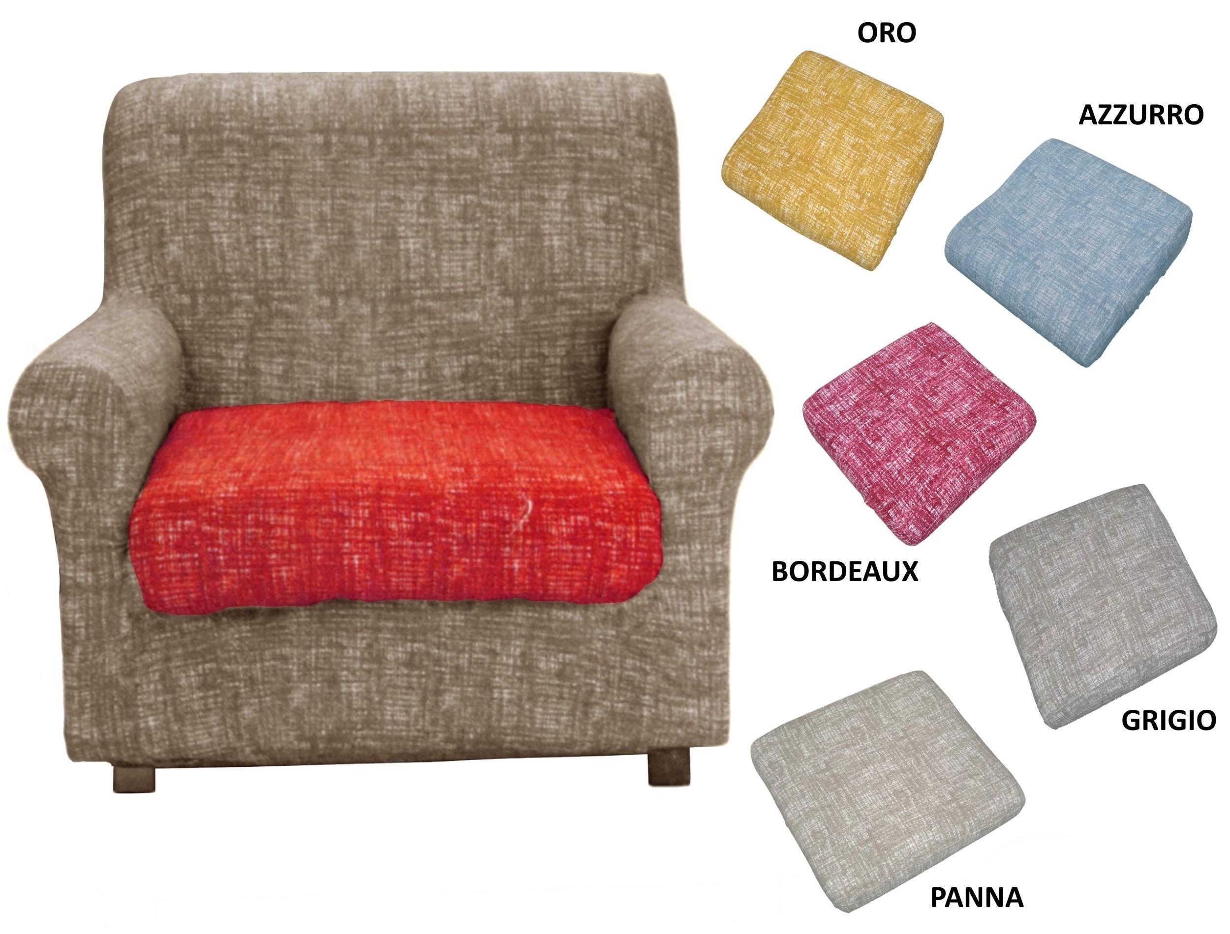 Copridivano 3 e 2 posti anche per divani angolari - Copridivano con cuscini schienale separati ...